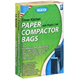 Bestair Clean Strong Kitchen Paper Compactor Bag with Plastic Liners, 12 count (1)