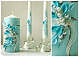 #8: Magik Life Unity candle set  Decorations For Wedding  Outdoor  Bar  Restaurant  Party Home  Birthday  Wedding settings  ceremony ideas party (turquoise)