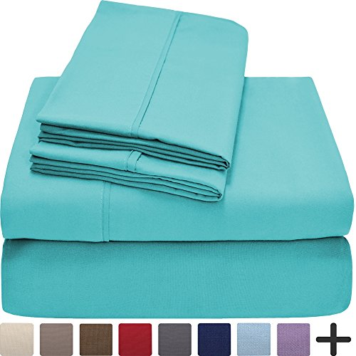 Premium 1800 Ultra-Soft Microfiber Collection Sheet Set - Double Brushed - Hypoallergenic - Wrinkle Resistant - Deep Pocket (Twin, Turquoise)