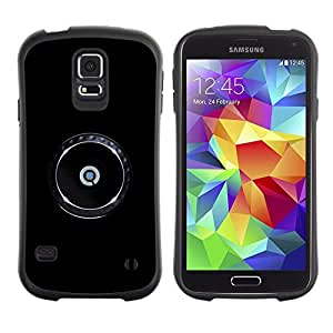"Hypernova Slim Fit Dual Barniz Protector Caso Case Funda Para Samsung Galaxy S5 [Regístrate Marca minimalista de Chrome""]"