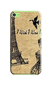 iPhone 5 Eiffel Tower with peace dove - hard plastic case / Paris, France wangjiang maoyi by lolosakes