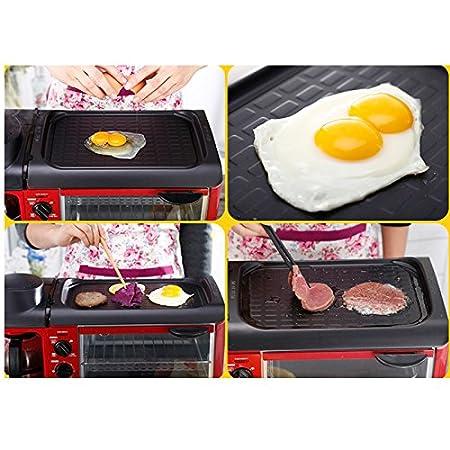 Desayuno 3 en 1 máquina 600W cafetera + 700W teppanyaki + ...