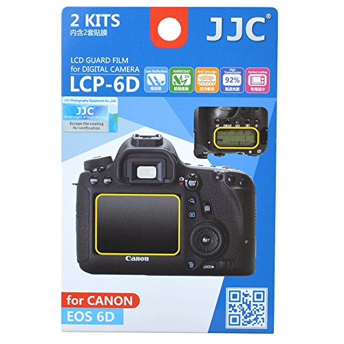 JJC LCP-6D Guard Film Digital Camera LCD Screen Protector Fo