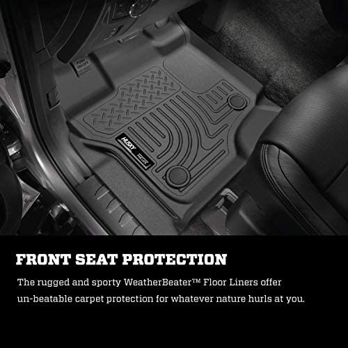 Husky Liners Fits 2015-20 Ford F-150 SuperCrew Weatherbeater Front & 2nd Seat Floor Mats 4