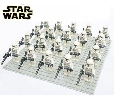 20 pcs Star War White Clone Trooper combat team Minifigure Building Blocks Toy