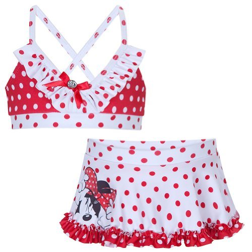 Disney Store Minnie Mouse Swimsuit Size Large 10: Red/White 2-Pc. Swimwear, Model: , Sport & Outdoor