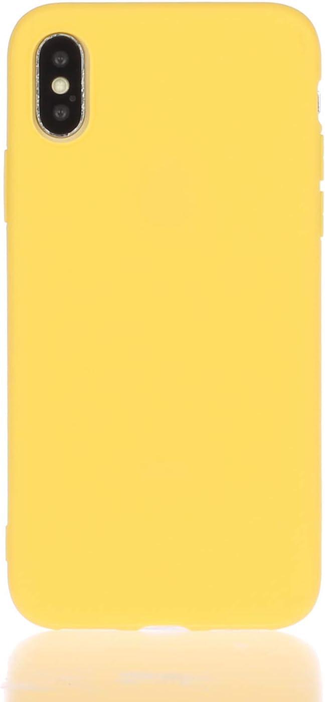 Orange Everainy Kompatibel f/ür iPhone XS MAX Silikon H/ülle Ultrad/ünn H/üllen Handyh/ülle Gummi Case f/ür iPhone XS MAX Schutzh/ülle Sto/ßfest TPU Gel Sto/ßstange Cover