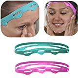 Facial Yoga For Jawline - XEDUO BeautyBand Anti-Wrinkle Auxiliary Headband Sports Headbands Beauty Band Face Lifting Band Help lift & firm skin naturally – no chemicals or extra steps (Green)