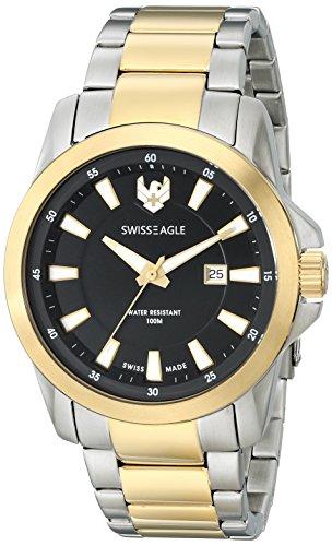 Swiss Eagle Men's SE-9056-44 Zermatt Analog Display Swiss Quartz Two Tone Watch