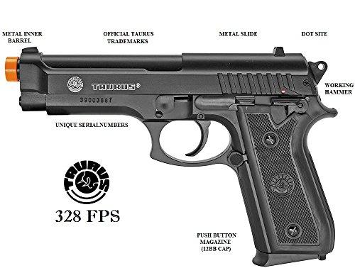 Taurus PT92 Spring Airsoft Pistol,Gun 328 FPS Metal Slide