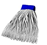 Impact LF0023 Microfiber Tube Wet Mop with Canvas Headband, X-Large, White (Case of 12)