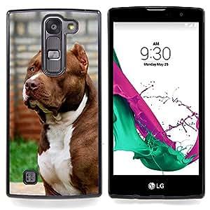 """Pit-Bull Dog Americano Boston Terrier canino"""" - Metal de aluminio y de plástico duro Caja del teléfono - Negro - LG Magna / G4C / H525N H522Y H520N H502F H500F (G4 MINI,NOT FOR LG G4)"""