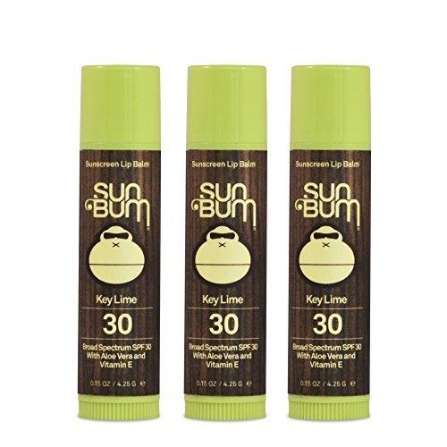 Sun Bum SPF 30 Lip Balm Key Lime 3 Pack by Sun Bum