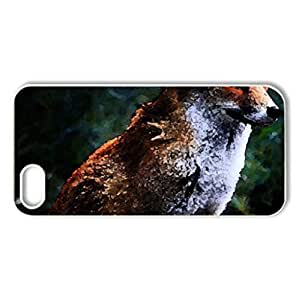 Beautiful Fox - Case Cover for iPhone 4 and 4s (Watercolor style, Black) by icecream design