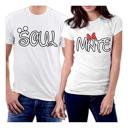 PicOnTshirt Soul Mate Couple T-shirts Men S / Women XL White (Modells Gift Card compare prices)