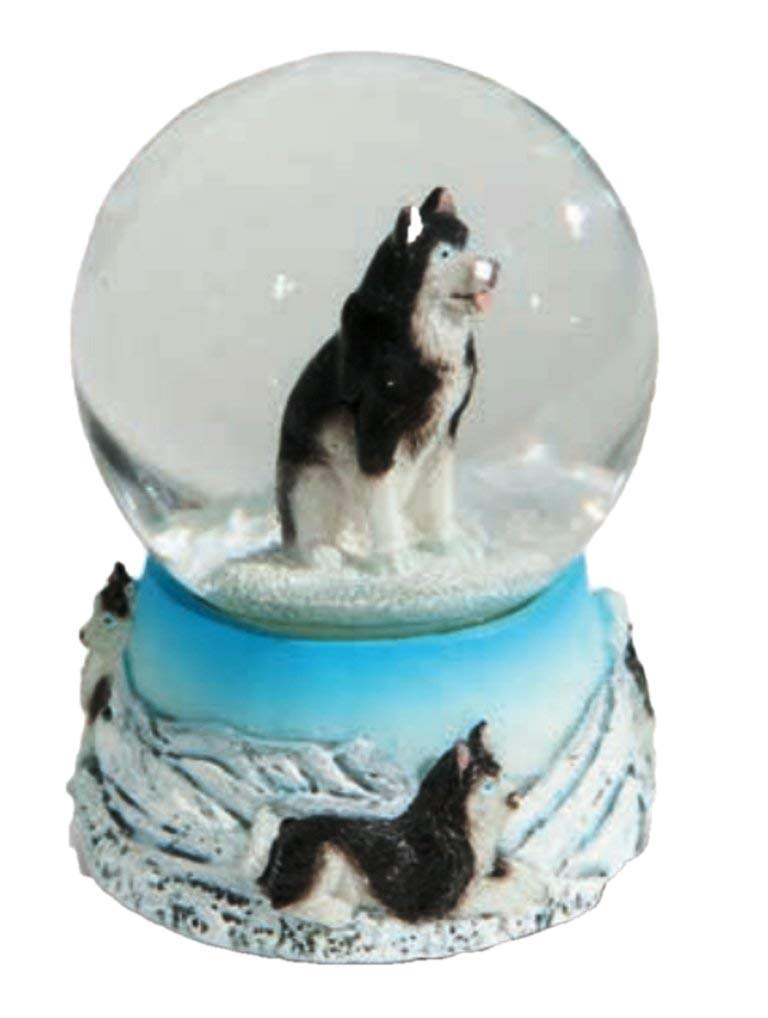 Osiris Trading UK Small Novelty Husky Snow Globe Dog Ornament Waterball