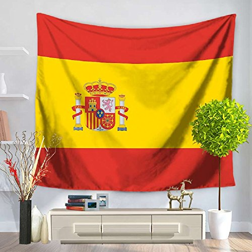 Izielad Spain Flag Wall Hanging Tapestry by Izielad