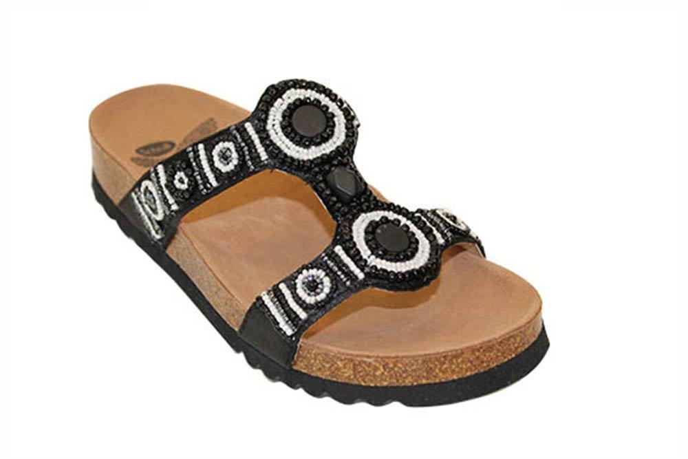 40090eeb6439 Scholl Size 38 Black Bogota Wedge Heels Women s Sandals  Amazon.co.uk   Health   Personal Care