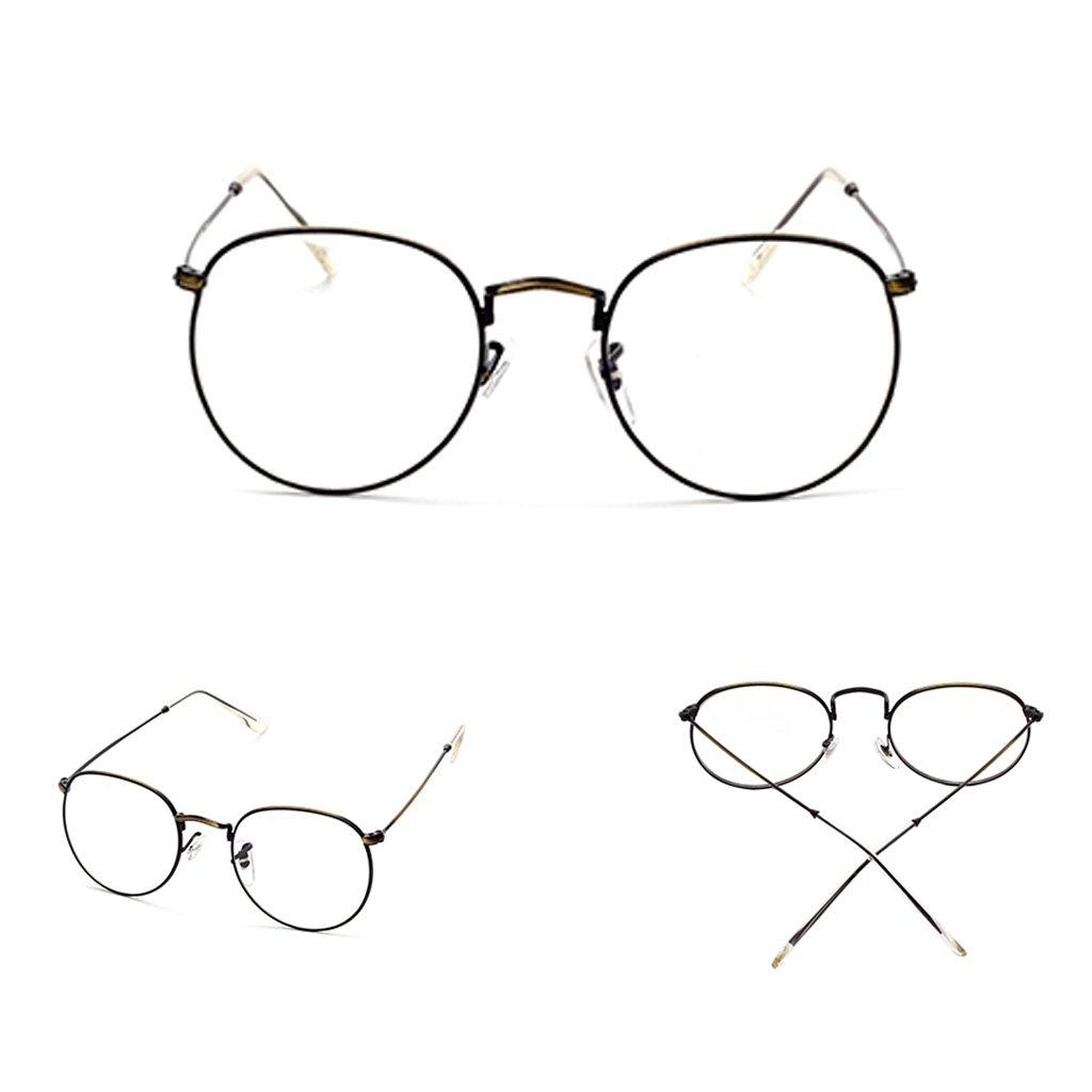 11561b2a68b Amazon.com  Doober Vintage Men Women Eyeglass Frame Glasses Round Spectacles  Clear Lens Optical (Black