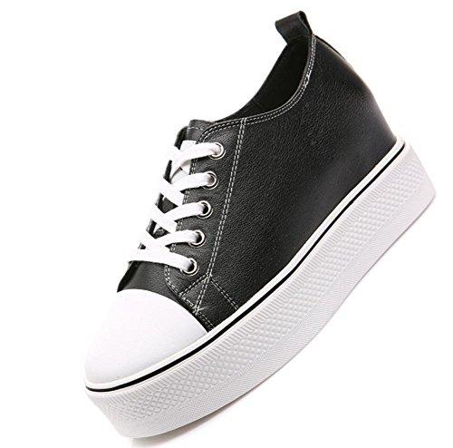 escoge de zapatos US7 elevador UK5 del los zapatos con con pendiente zapatos las grueso las zapatos los cordones Spring mollete mujeres casuales de fondo EU38 5 5 de CN38 Ms mujeres los qg8wFxBE