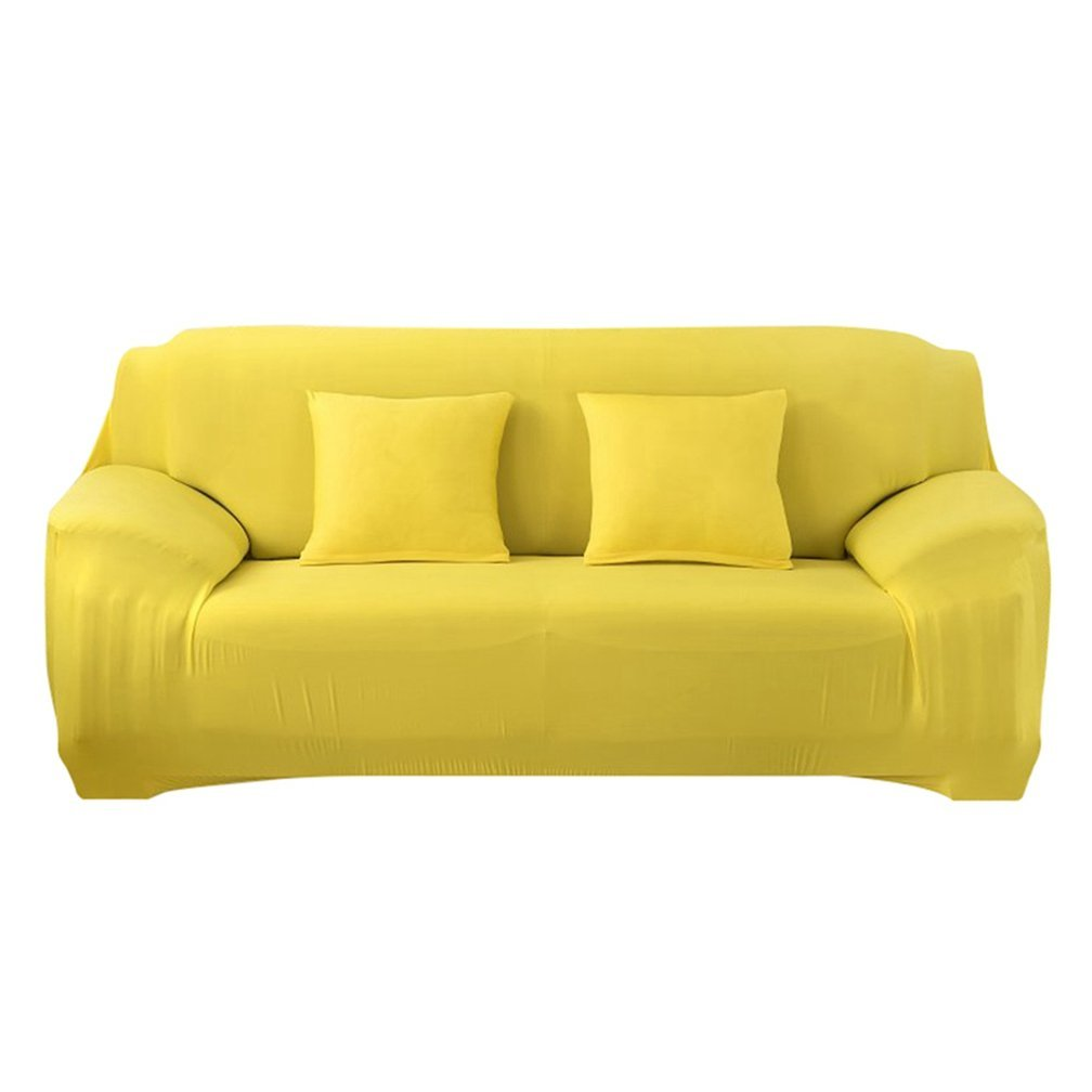 LVYING Modern Sofa Cover Slip-Resistant Slipcover Stretchable Solid Color Polyester Fiber Sofa Cushion Washable Home/Hotel Sofa Covers