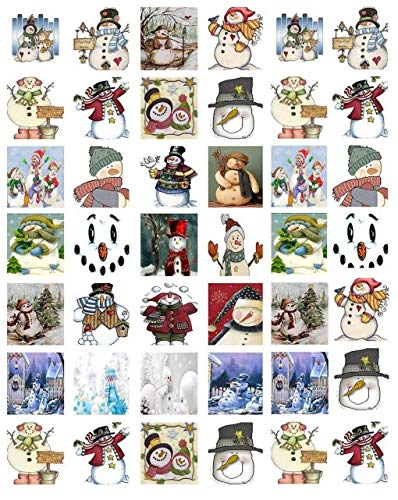 Christmas Snowmen - 85139 - Ceramic Decal - Enamel Decal - Glass Decal - Waterslide Decal - 3 Different Size Sheet (Images) to Choose from. Choose Either Ceramic (Enamel) or Glass Fusing Decals