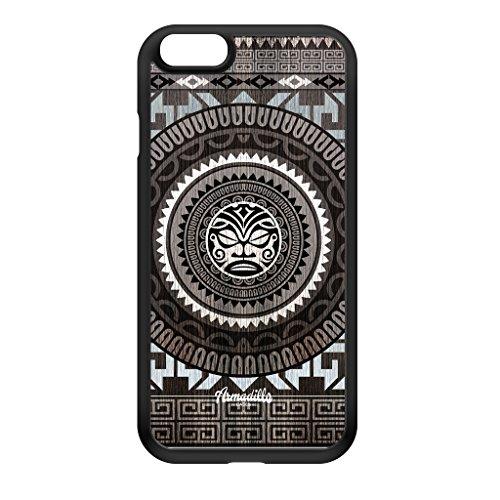 Maori Totem schwarze Hülle zum Einrasten aus Silikon Gummi Schutzhülle Rückseite für iPhone 6 vom Gangtoyz + wird mit KOSTENLOSER klarer Displayschutzfolie geliefert