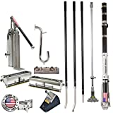 Drywall Master Professional Full Automatic Taping and Finishing Set - 10'' & 12'' Boxes, Taper, Pump, Corner Tools, Handles