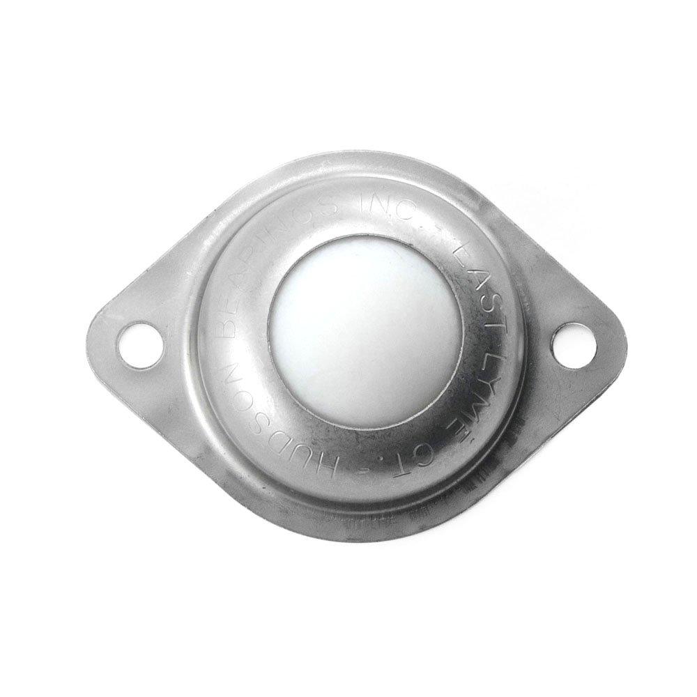 Carbon Steel Case of 10 Hudson Bearings BT-1 Flange Mounted Nylon Ball Transfer 1 Diameter 35 lbs Load Capacity