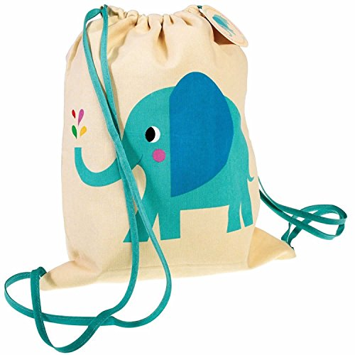 LS Design Kinder Turnbeutel Sportbeutel Rucksack Schultasche Backpack Elefant Dino Elefant Dino LDYQA5N