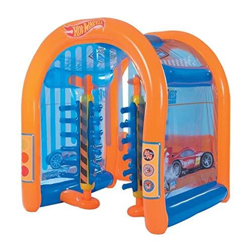 Bestway Kids Backyard Outdoor Inflatable Hot Wheels Car Wash Water Play Center