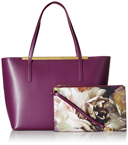 81ac115bd2 Amazon.com: Ted Baker Noelle Crosshatch Shopper, Grape: Clothing
