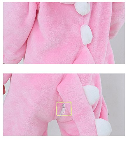 Tonwhar Toddler Infant Tiger Dinosaur Animal Fancy Dress Costume (70(Height:22''-26''/Ages 0-6 Months), Pink) by Tonwhar (Image #5)