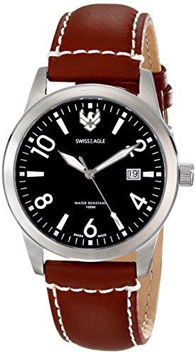 Swiss Eagle Men's SE-9029-03 Cadet Analog Display Swiss Quartz Brown Watch