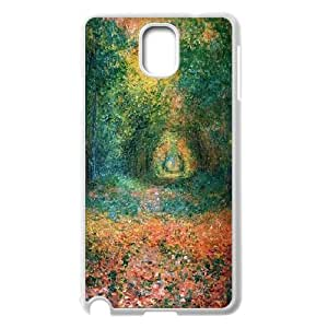 Zachcolo Claude Monet Art Samsung Galaxy Note 3 Case Another Forest Opening By Claude Monet, Using Paints, With The Mix Of Colours This Creates A Mysterious But Gentle Mood. Hardshell For Girls, Samsung Galaxy Note 3 Case For Girls Hardshell For Girls [White]