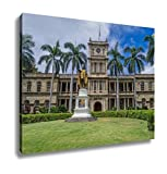 Ashley Canvas, King Kamehameha I Statue In Honolulu Hawaii, Home Decoration Office, Ready to Hang, 20x25, AG6406561