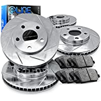 2013-2015 Honda Accord Full Kit eLine Slotted Brake Disc Rotors & Ceramic Pads