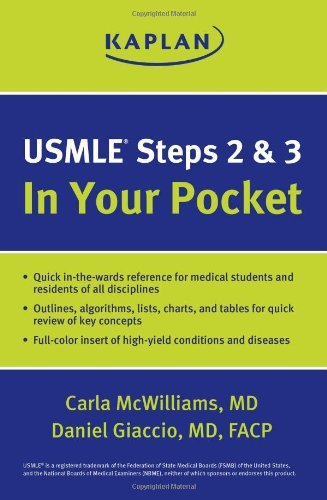 Download By M.D. Carla McWilliams USMLE Steps 2 and 3: In Your Pocket (Second Edition) [Paperback] PDF