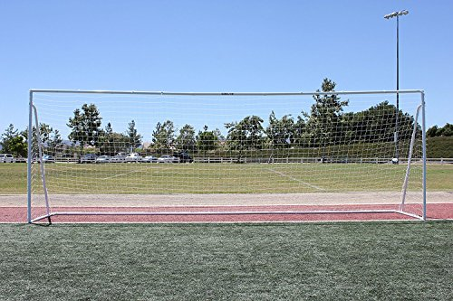 24x8 Soccer Goal, Official Regulation Square Corner Face, (1) 3mm White Net, Portable, 2