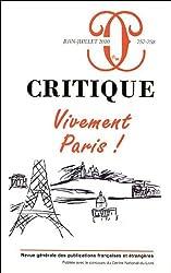 Critique, N° 757-758, Juin-Jui : Vivement Paris !