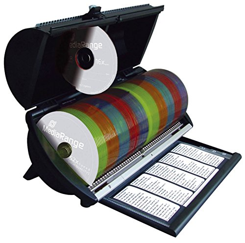 MediaRange BOX81 Selector 100 CD/DVDs schwarz