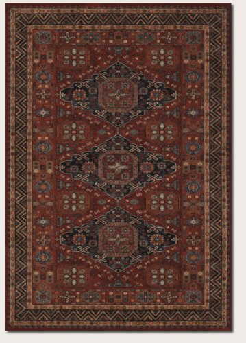 Couristan 4308/0300 Old World Classics Kashkai Area Rugs, 7-Feet 10-Feet-Feet by 11-Feet, Burgundy