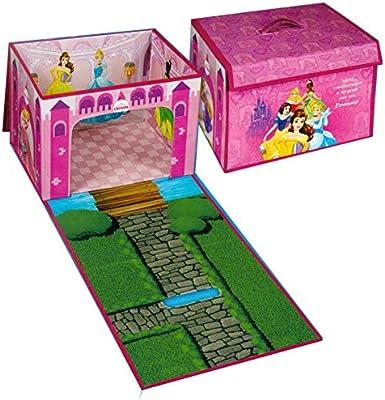 Brandsseller - Caja de almacenaje para niños (Plegable, 2 en 1), diseño de Princesas Disney