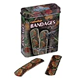 River's Edge Green Camouflage Bandages w/Tin
