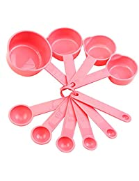 Acquisition 10Pcs Cute Baking Cup Kitchen Coffee Spoon Set Tablespoon Cooking Measuring Tool Pink lowestprice