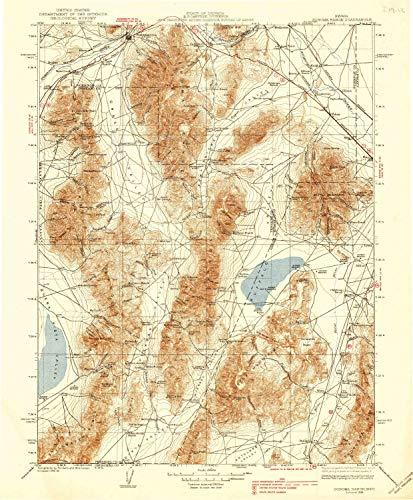 - YellowMaps Sonoma Range NV topo map, 1:250000 Scale, 1 X 1 Degree, Historical, 1939, 19.9 x 16.5 in - Polypropylene