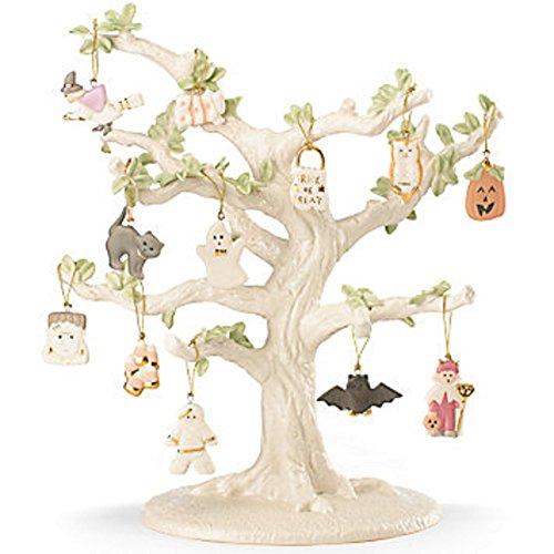 Lenox Halloween Miniature Tree & 12 Ornaments Owl