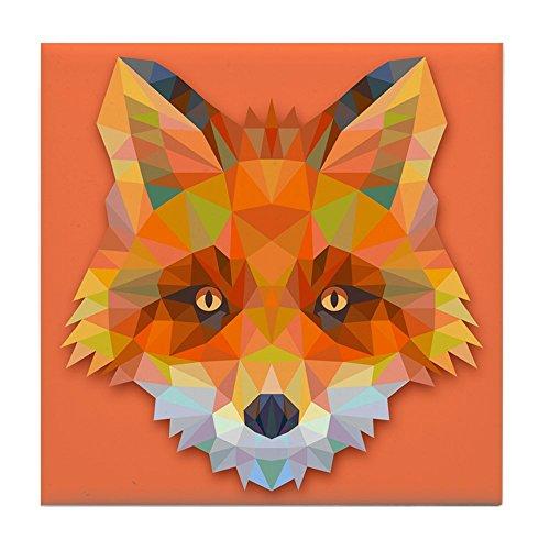 Tile Coaster (Set 4) Triangle Fox