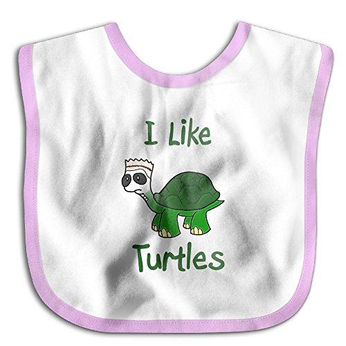 Unisex Baby Bandana Drool Bibs I Like Turtle Cotton Neck Saliva Adjustable Towel Toddler For Girls -