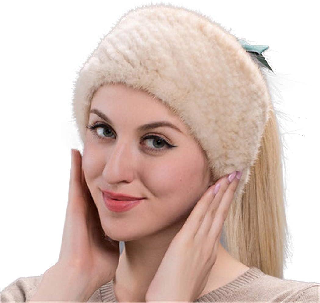 UMREN Women's Real Mink Fur...